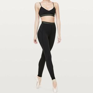 Lululemon Principal Dancer Golden Lining tights